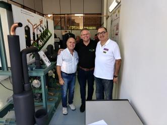 Engos Marcos Euzebio, Luiz e Tommaso no Rack Didatico